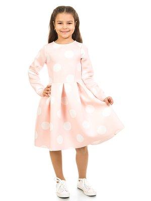 Платье розовое в горох | 2318987