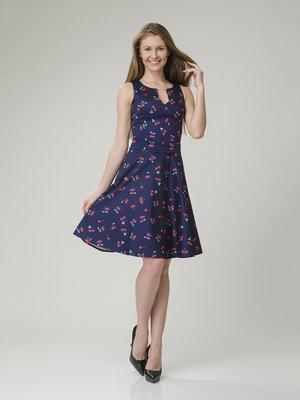Платье синее в принт | 2344288
