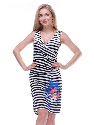 Платье черно-белое в полоску | 2333221