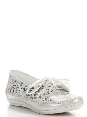 Туфлі сріблясті з принтом | 2356427