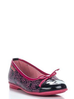 Туфлі фіолетово-малинові з малюнком | 2361623