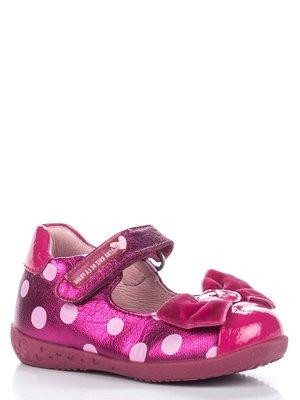 Туфлі малинові в горох | 2361624