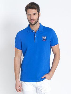 Футболка-поло синя | 2383378