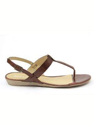Сандалии-вьетнамки коричневые   2379714