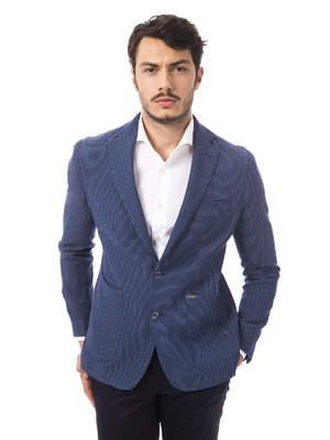 Піджак синій в принт | 2392615
