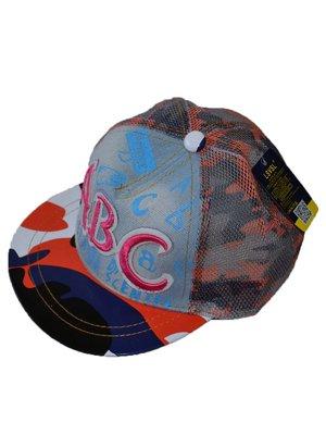 Бейсболка разноцветная с принтом и вышивкой | 2377137