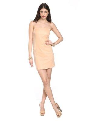 Сукня-бандо кольору пудри   2257477