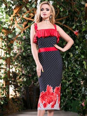Платье трехцветное комбинированной расцветки | 2401707
