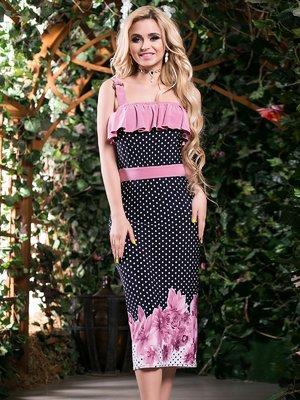 Платье трехцветное комбинированной расцветки | 2401708
