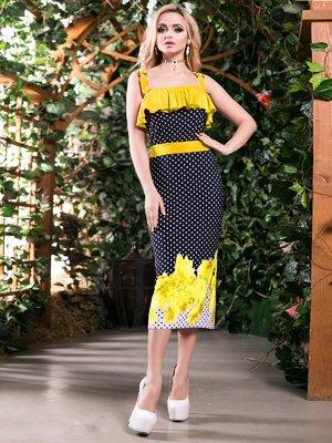 Платье трехцветное комбинированной расцветки | 2401709