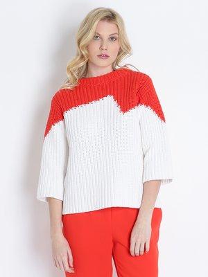 Джемпер біло-червоний | 2405712