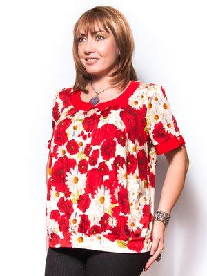 Блуза в квітковий принт   2410144