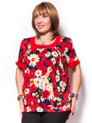 Блуза в цветочный принт | 2410145