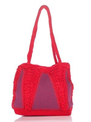 Сумка червона плетена | 2409296