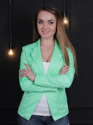 Жакет зеленый | 2416743