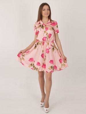 Сукня рожева в квітковий принт   2416746