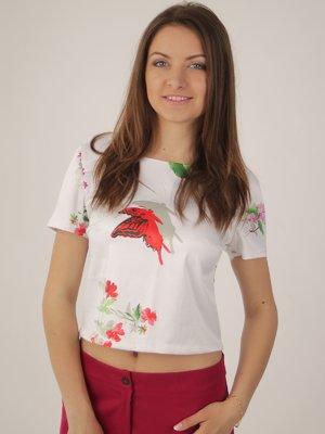 Блуза біла в принт   2416762