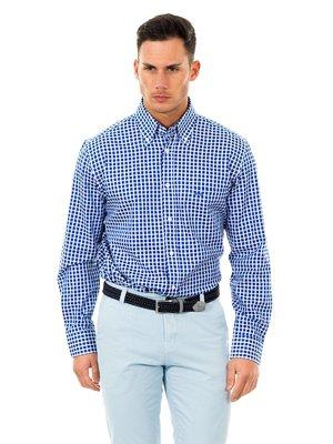 Рубашка сине-белая в клетку | 2421069