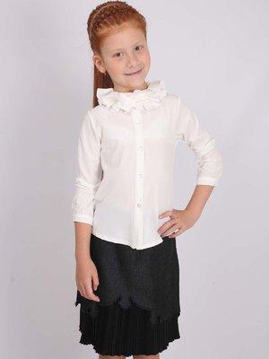 Блуза бело-молочного цвета | 2443868