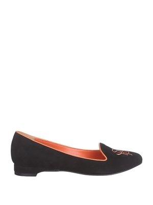 Туфли черные с вышивкой | 2447199