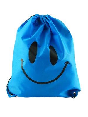 Рюкзак голубой с принтом | 2454068