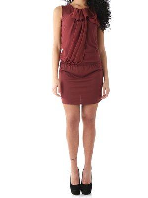 Платье бордовое | 2453668