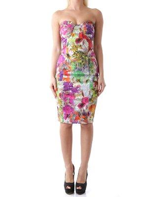 Сукня-бюст'є в квітковий принт   2453729