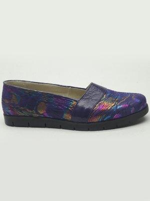 Балетки фиолетовые с принтом | 2433676