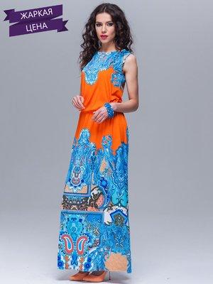 Сукня помаранчево-блакитна | 1627009