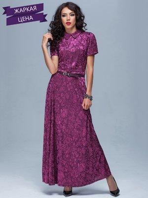 Сукня рожево-бузкова в квітковий принт | 1859373