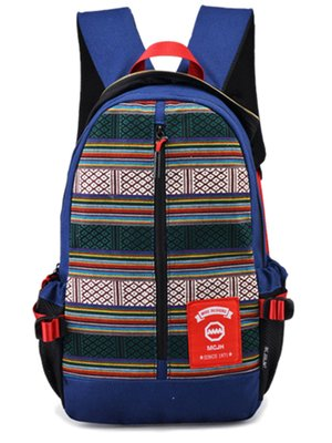 Рюкзак синій з орнаментом | 2487701
