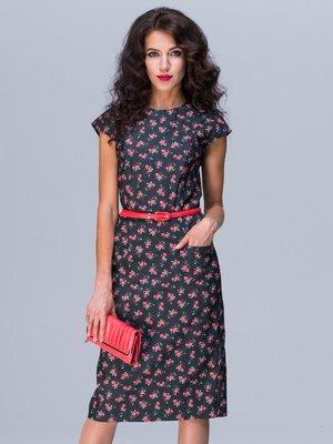 Сукня чорна з принтом | 2491189