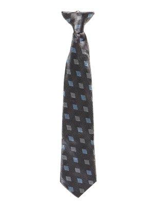 Краватка чорна в принт | 2496074