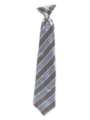 Краватка триколірна в смужку | 2496072