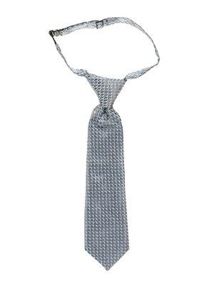Краватка триколірна в принт | 2496071