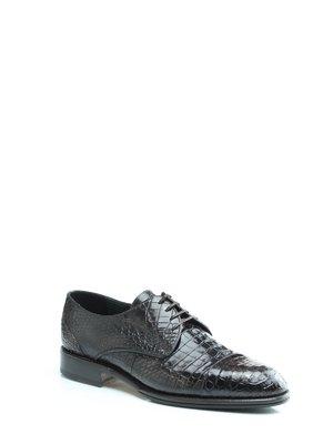 Туфли коричневые из кожи крокодила - Pakerson - 1033668