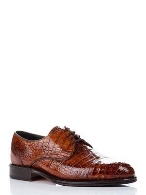 Туфлі рудого кольору зі шкіри крокодила | 1033671