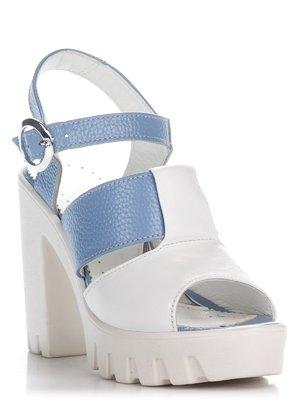 Босоніжки біло-блакитні | 2510510