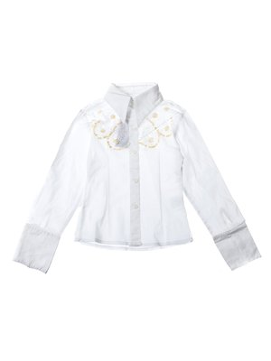 Сорочка біла з декором | 2500516