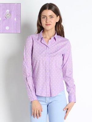 Блуза сиреневая в горошек | 2548070