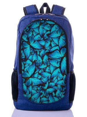 Рюкзак синий с принтом   2551881