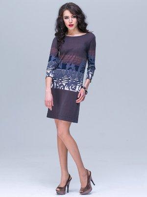 Платье фиолетовое в принт | 2552041