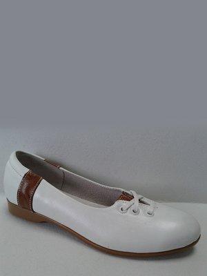 Балетки біло-коричневі | 2554880