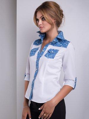 Рубашка белая с принтом   2563713