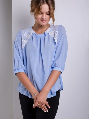 Блуза голубая | 2563729