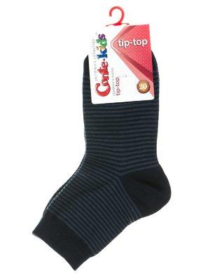 Шкарпетки темно-сині у смужку | 2626260