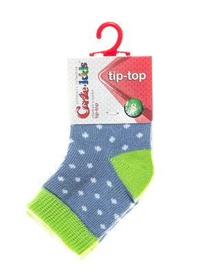 Шкарпетки синьо-салатові в горох | 2626377