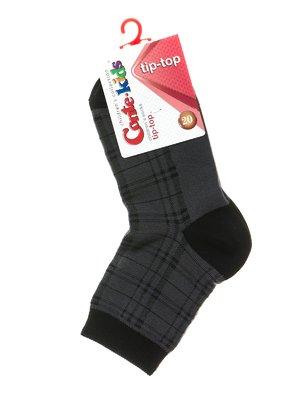 Шкарпетки темно-сірі в клітинку | 2626366