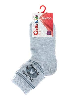 Шкарпетки світло-сірі з малюнком | 2626271