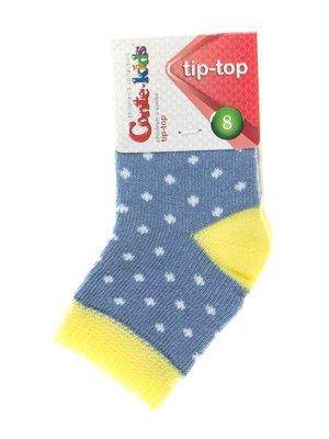 Шкарпетки синьо-салатові в горох | 2626376